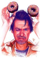 Steve Buscemi and donuts by Thubakabra