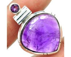 Handcrafted Pure 925 Sterling Silver Amethyst Pend by yanxgroup