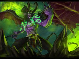 Illidan Stormrage by Anila