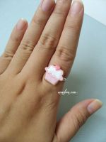 personal cupcake cookie ring by Snowfern