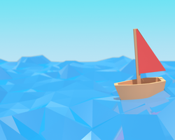 Low Poly Ocean Scene by AJASC
