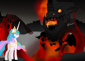 Celestia Meets Deathwing by ArdonSword