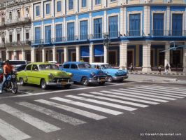Waiting cars in Cuba by KIARAsART