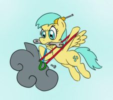 EqDTG II - 11 - Pony fixing something by Fadri