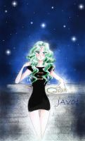 michiru and light the night sky by zelldinchit