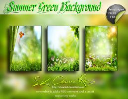 SUMMER GREEN BACKGROUND V02 by SK-DIGIART