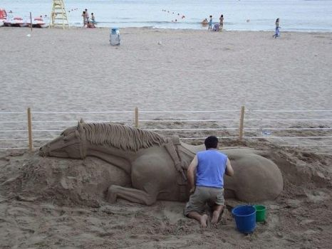 Cool  Sand Horse by L-O-H