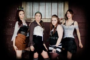 Steampunk Bar maids by RadiancePhotography1