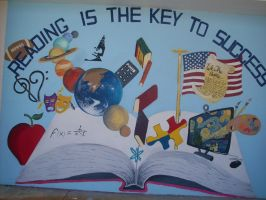 Titusville High Mural by jesus-at-art