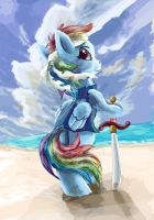 Pirate Rainbow Dash by OwlVortex