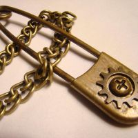 Big Burly Safety Pin Necklace by SteamSociety