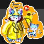 ::ADOPTABLE:: Raincoat Kitty by Peppkitty