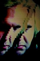 Digital distortion 0.4 (self portrait) by BenKodjak