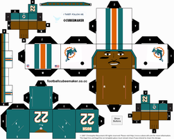 Reggie Bush Dolphins Cubee by etchings13