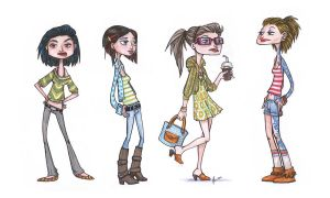 girls... by VODKABABY