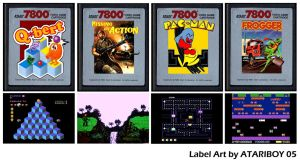 Atari Labels Art - 7800 by Atariboy2600