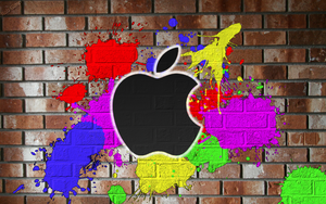 Apple Graffiti Wallpaper by Robgimp