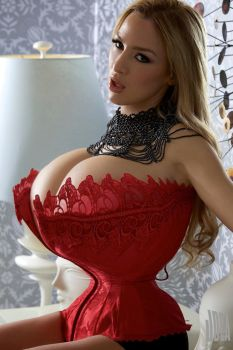 Red Corset by Implantator