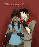 Makorra proposal by LilyScribbles