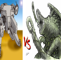 Metal Gear Rex VS  Biollante by DeRpYhOoVvEs