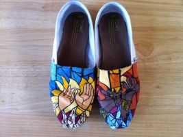 Beauty and the Beast Shoes by hayleykayarts