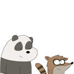Panda and Rigby by MarcosPower1996