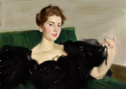A copy of the portrait by Anders Zorn. by An-Bird