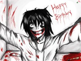 Jeff the killer :Happy Birthday by floriyon