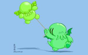 Cthulhu's Balloon by Draguunthor