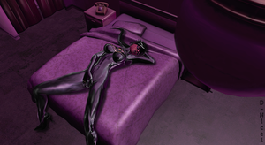 Batgrrl Lara: Suductive Intruder in my Bed by Krypto4CatSuits