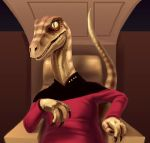 Captain Jean-Luc Raptor by mcnostril
