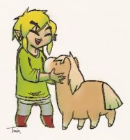 Link and Galiot - Adults by BeagleTsuin