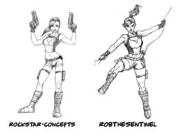 Draw Off 2: Lara Croft by Nortedesigns