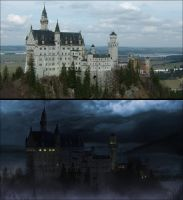 German Castle Matte Painting by digital-fluids