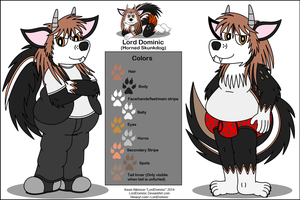 Lord Dominic (Horned Skunkdog) Simple Ref 2014 by LordDominic