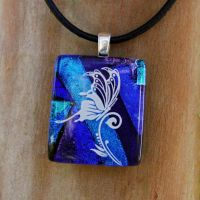 Butterfly Landing Fused Glass by FusedElegance