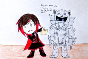 Little Red and the Big Bad Wolf by SonicHeroXD