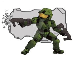 Super-Deformed Master Chief by MichaelLinkJr