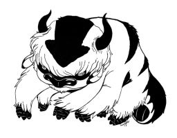 Appa-Inked Sketch by killskerry