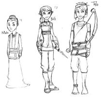 Malo Beth and Talo grown up by Mk-Dragongirl