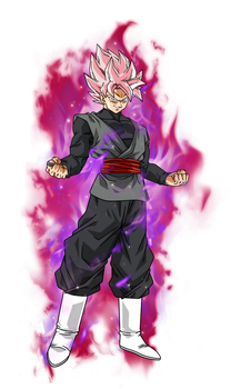 Black Goku super saiyan rose V2 by BardockSonic