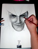 WIP The God of Mischief by gfuentesart