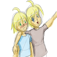 Emil And Aster- Embarassed by nyanyancat207