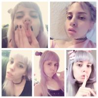 my stupid kawaii faces by Malabee