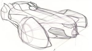 Batmobile sketch II by speeddemon575