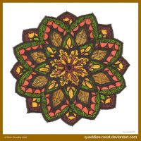 Orange Crush Mandala by Quaddles-Roost