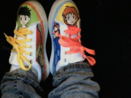 Ponyo shoes by drasticslostsoul