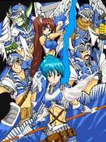 Blue armored generals by Raynear