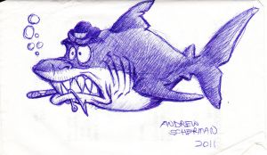 Mugsy Shark by SharpDressedReptile