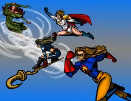 Justice society of America ladies by Cubed1